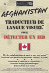 Afghanistan Traducteur de langue visuel pour détecter un IED