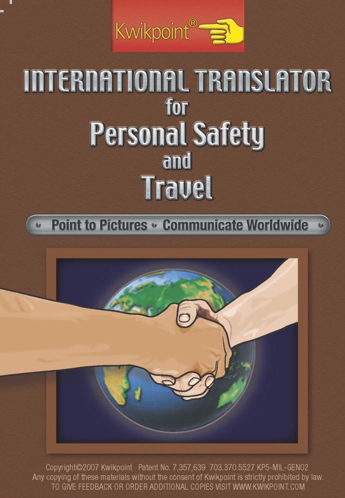 Kwikpoint International Travel Translator