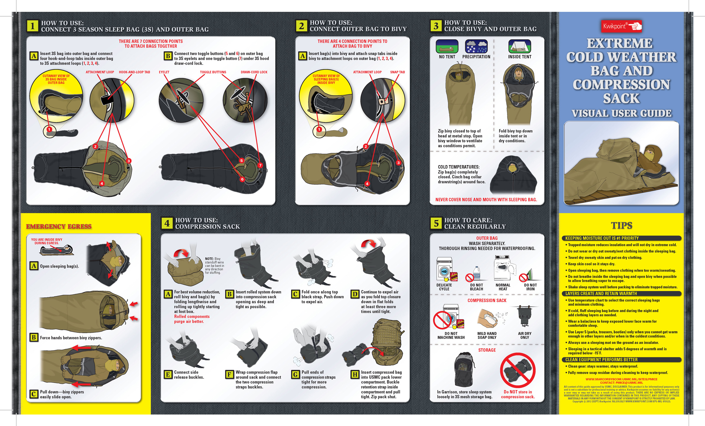extreme cold weather bag visual users guide kwikpoint com rh kwikpoint com iPad Mini User Guide User Manual Guide