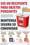 Sharps Disposal Awareness Poster – Spanish