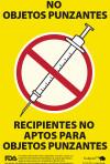 Sharps Recycle Bin Label – Spanish