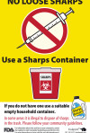 Sharps Garbage Can Label