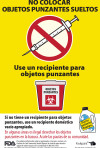 Sharps Garbage Can Label – Spanish