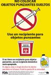 Sharps Garbage Can Label – Spanish